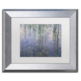 Claude Monet 'Water Lilies III 1840-1926' White Matte, Silver Framed Wall Art