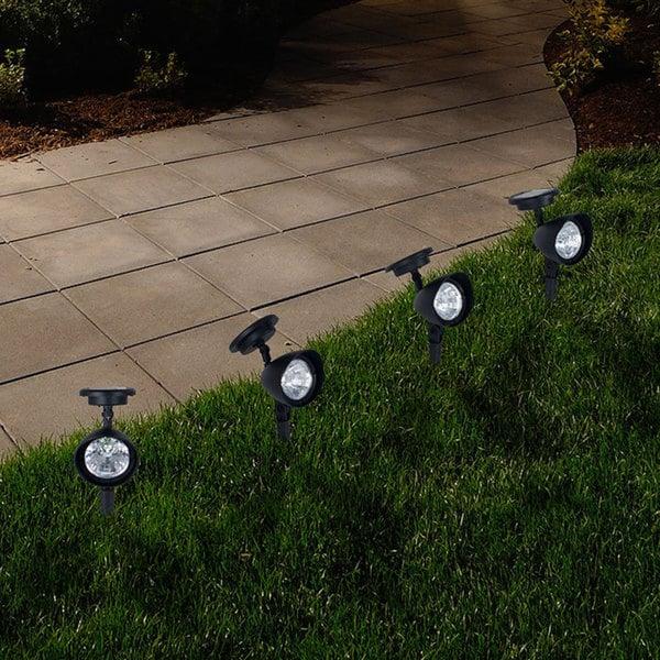 Outdoor Lighting On Sale: Shop Pure Garden Outdoor Solar Yard Spot Lights