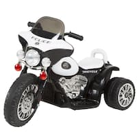 3 Wheel Mini Motorcycle  for Kids, Battery Powered Ride on Toy by Rockin' Rollers – Toys for Boys & Girls– Police Car