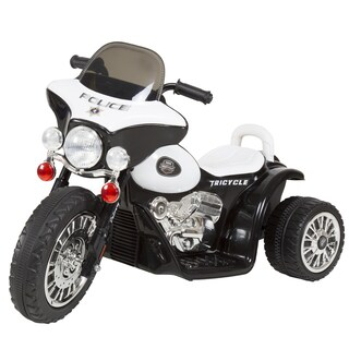 Trademark Rockin' Rollers Toys 3-wheel Battery-powered Ride-on Mini Police Car Motorcycle for Kids