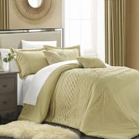 Chic Home Corona Champagne 5-piece Comforter Set with Handwork Pleats