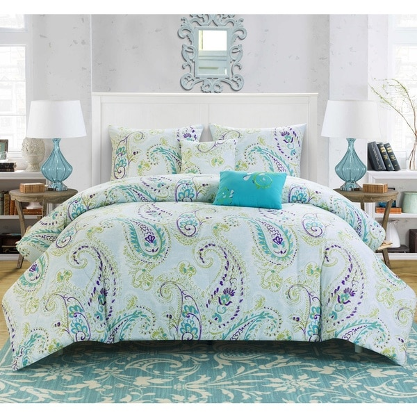 Summit Printed Reversible 5-piece Comforter Set