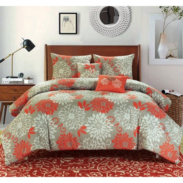 Chandler Printed Reversible 5-piece Comforter Set