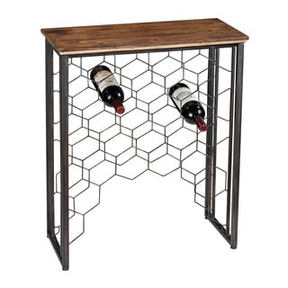 Leominster Small Consolde with Wine Rack