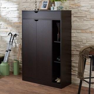 Furniture of America Edmund Modern Cappuccino 8-shelf Shoe Cabinet
