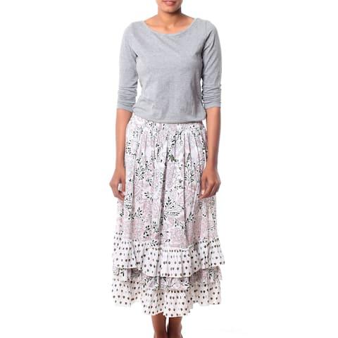 Handmade Cotton 'Earth Collection' Skirt (India)