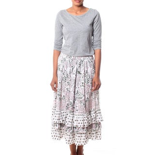 Handmade Cotton 'Earth Collection' Skirt (India)