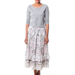 Handmade Cotton 'Earth Collection' Skirt (India)|https://ak1.ostkcdn.com/images/products/10703283/P17763668.jpg?impolicy=medium