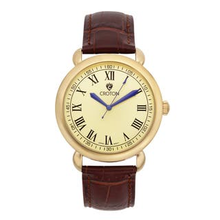 Croton Men's CN307532BRCH Stainless Steel Goldtone Leather Strap Watch|https://ak1.ostkcdn.com/images/products/10703291/P17763634.jpg?impolicy=medium