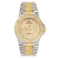 Croton Men's  Stainless Steel Two-tone Crystal Bracelet Watch