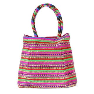 Handcrafted Brocade 'Festive Gujarat' Shoulder Bag (India)