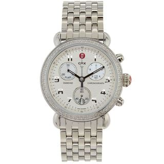 Michele Women's MWW03D000014 'CSX-39' Chronograph Diamond Stainless Steel Watch