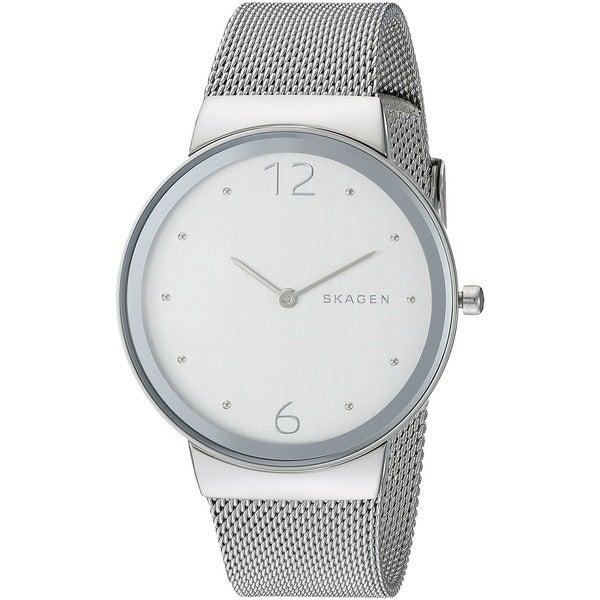 687867de6 Shop Skagen Women's 'Freja' Stainless Steel Watch - Free Shipping Today -  Overstock.com - 10703354