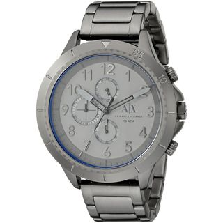 Armani Exchange Men's AX1753 'Romulous' Chronograph Grey Stainless Steel Watch