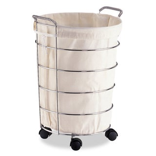 Organize It All Laundry Basket with Canvas Bag
