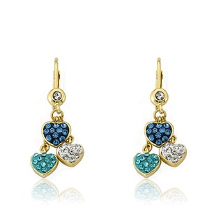 Molly Glitz 14k Goldplated and Crystal Covered Heart Earring