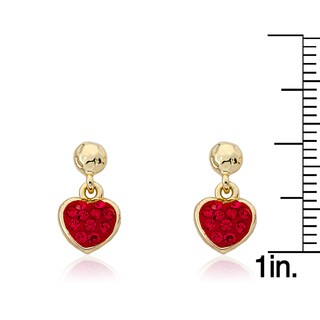 Molly Glitz 'Heart Of Jewels' 14k Goldplated Crystal Heart Dangle Earring