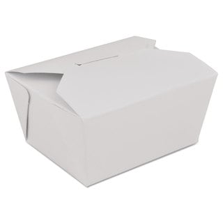 SCT ChampPak Retro White Paperboard Carryout Boxes (Pack of 300)