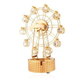 Matashi 24K Gold Plated Music Box Carousel Variations Made with Genuine Matashi Crystals
