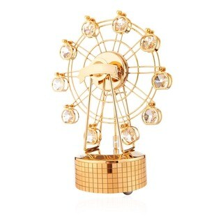 Matashi 24K Gold Plated Music Box Carousel Variations Made with Genuine Matashi Crystals
