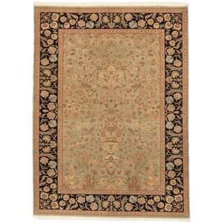 ecarpetgallery Keisari Vintage Green Wool Rug (4' x 5')