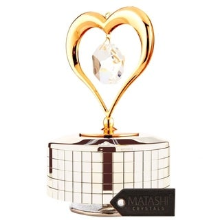 Matashi 24K Gold or Silver Plated Music Box Ballerina Variations Made with Genuine Matashi Crystals (2 options available)