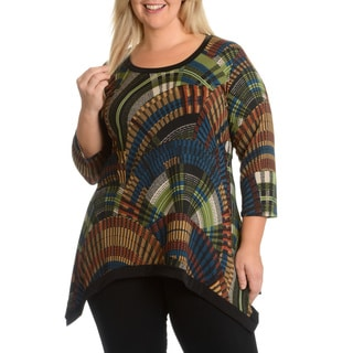 Sunny Taylor Women's Plus Size Printed Top