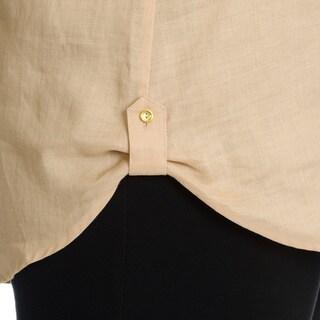 Sunny Leigh Women's Plus Size Linen Shirt