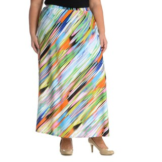 Sunny Leigh Women's Plus Size Multi Colored Skirt