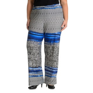 Sunny Leigh Women's Plus Size Multi Patterned Pant
