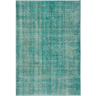 ecarpetgallery Color Transition Blue Wool Rug (5' x 7')