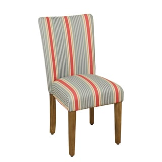 HomePop Classical Stripes Parson Dining Chair - Marisol Coral - Single
