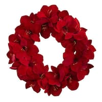 22-inch Amaryllis Wreath