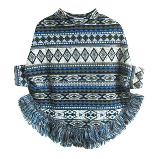 Kids' Tribal Design Poncho with Fringe (2 options available)