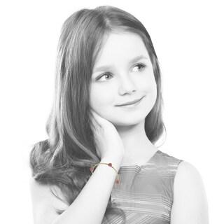 Moly Glitz 14k Goldplated 3 Pink Crystal Hearts Chain Bracelet