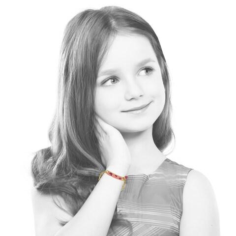 Molly Glitz 14k Goldplated Pink ID Bracelet