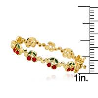 Molly Glitz 14k Goldplated Cherries Cut-out Bangle