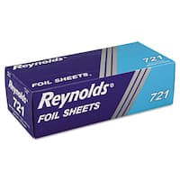 Reynolds Wrap Interfolded Silver Aluminum Foil Sheets (6 Boxes of 500 Sheets)