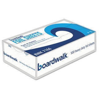 Boardwalk Pop-Up Silver Aluminum Foil Wrap Sheets (6 boxes of 500 sheets)