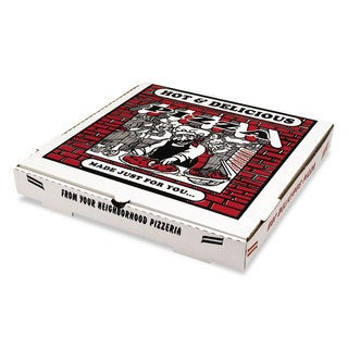 PIZZA Box White Takeout Containers (Box of 50)