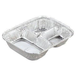 Handi-Foil of America Aluminum Oblong Containers with Lid (Case of 250)