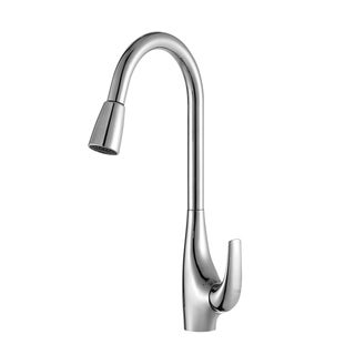 Kraus Single Lever Pull Down Kitchen Faucet and Soap Dispenser