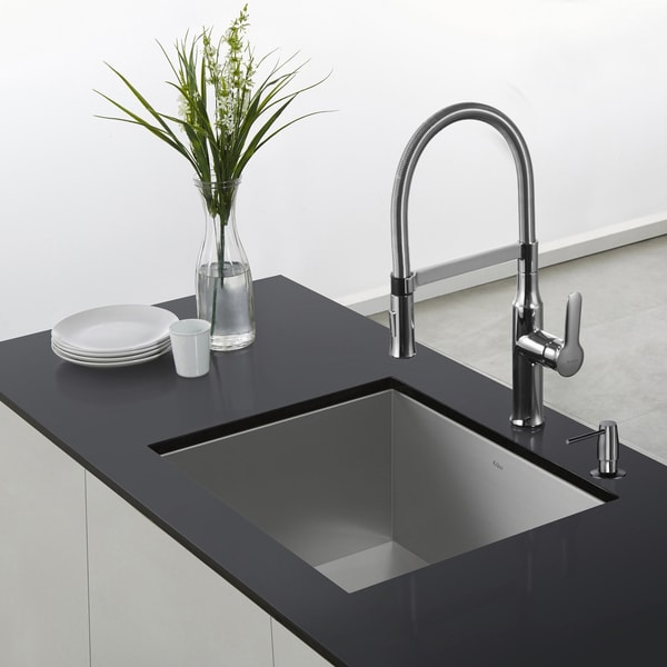 Amazing Kraus Nola Single Lever Flex Commercial Style Kitchen Faucet   Free  Shipping Today   Overstock.com   17764030