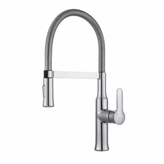 Kraus KPF-1640 Nola Flex Commercial Style 1-Handle 2-Function Sprayhead Pull Down Kitchen Faucet and Soap Dispenser