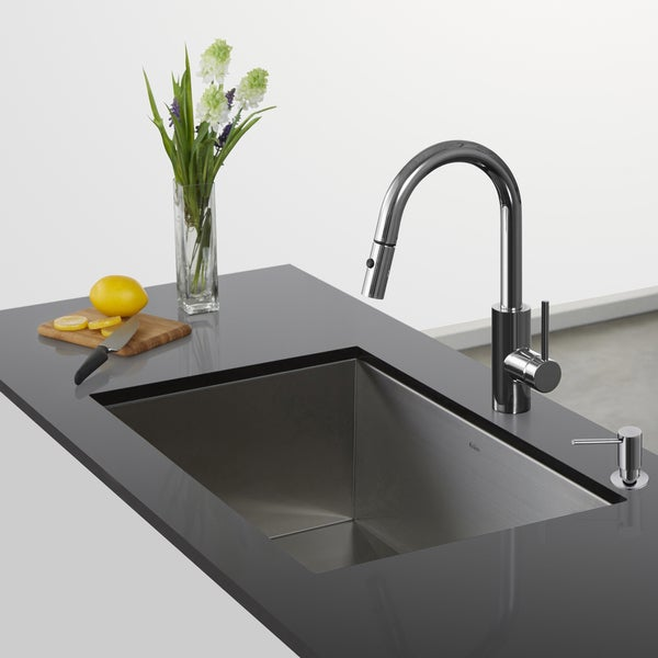 Kraus Oletto Single Lever Pull Down Kitchen Faucet