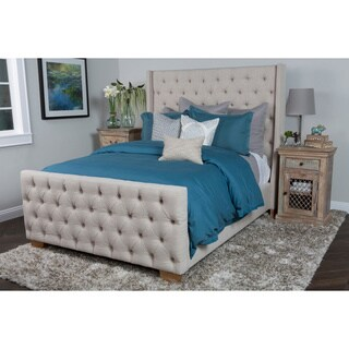Skylar Tufted Ivory Upholstered Queen Bed by Kosas Home