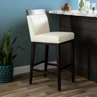 Hazelton Home Terrence Barstool In Leather