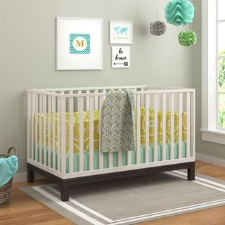 Ameriwood Home Leni Espresso and White Crib by Cosco