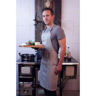 Railroad Stripe Denim Adult Butcher Apron