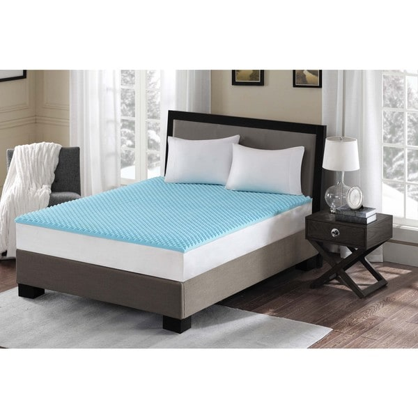 Flexapedic by Sleep Philosophy Reversible Convoluted 1.5-inch Gel Memory Foam Anti-microbial and Dust Mites Resistant Topper